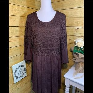 Indigo Soul Dress with Lace